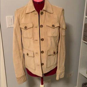J Crew 100% Suede Leather Jacket